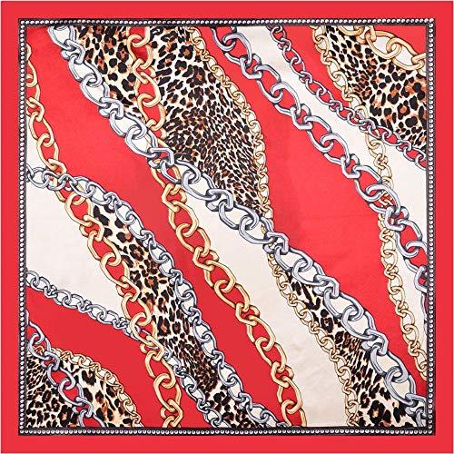 BVCGDFAS Seidenschal Damen Print Tüll Stirnband Schals Halstücher Wrapsnew Leopard 60Cm Simulation Seidenschal Stewardess Professional Wear Dekoration Small Square Scarf Schalkragen Tasche Wraps Schal