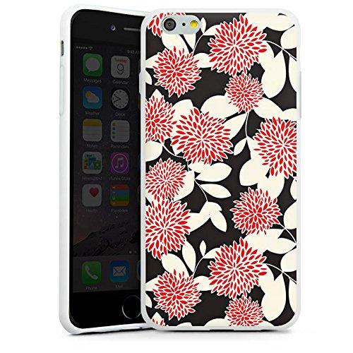 Apple iPhone X Silikon Hülle Case Schutzhülle Blumen Ornamente Muster Silikon Case weiß