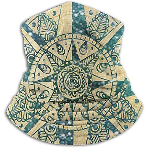Not Applicable Polaina De Cuello Headwear Stretchy Mandala Rose Compass Unisex Clima Frío A Prueba De Viento Mantener Caliente Máscara De Bufanda Resistente Al Frío