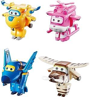 Super Wings HOGI JETT DONNIE JEROME ARI DIZZY Transforming Air-Planes Robot 4pcs