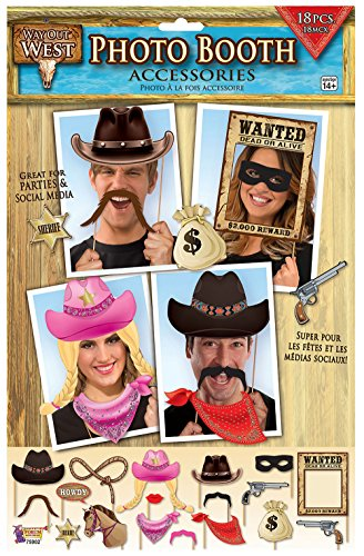 Forum Novelties x75902 Way Out West Foto Booth, mehrfarbig, one size (Cowboy Party Supplies)