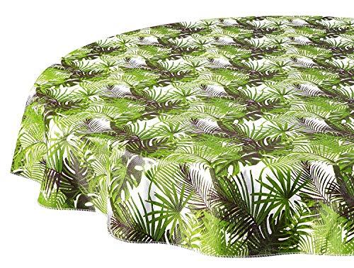 �r den Außenbereich, abwischbar, Vinyl-Tischdecken, Handflächen, 152,4 cm ()