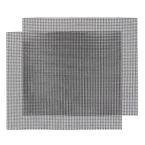 Gitter Grillmatte, HTIANC Backmatte eckig, Dauer-Backmatten, Antihaftbeschichtung, LFGB und FDA Zulassung, 2 Stück, 42*36 cm