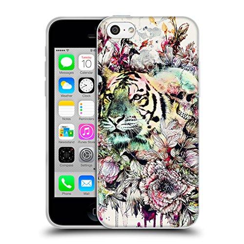 Offizielle Riza Peker Pferd Tiere Soft Gel Hülle für Apple iPhone 6 / 6s Tiger
