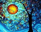 [Madera enmarcada] Pintura al óleo de DIY Por Números, Pintura Por Número de Kits-Digital Pintura Pinturas Lienzo Arte de la Pared del Paisaje Día Jose Ilustraciones Para Los Regalos Salón Blanco Home Living Oficina de Navidad Año Nuevo San Valentín Decoración Decoraciones - Pintura de DIY Por Números Bricolaje Kit de Lona Para Adultos Mayores avanzada Niños joven-Sueño del número de Van Gogh 12x16 inch