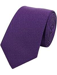 Étroit Cravate de Fabio Farini en violet avec texture