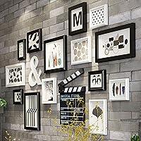 Wadse Set de 14 Marcos Collage, Marcos de Fotos para Pared de Madera Maciza Estilo