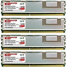 Komputerbay KB_16GB_4X4GB_667_FBDIMM_2Rx4_HS - Módulos de memoria FB-DIMM 16 GB (4x4GB), DDR2 PC2-5300F, 667MHz, CL5 ECC, Búfer Completo (240 pines) con disipadores de calor