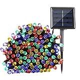Qedertek Solar Lichterkette Außen 22m 200er LED 8 Modi Wasserdichte