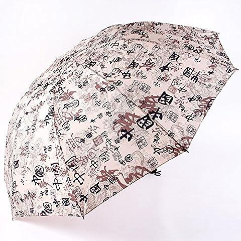 Paraguas paraguas plegado triple