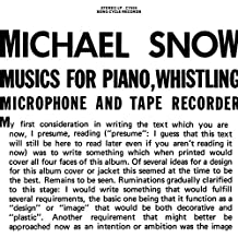 Music For Piano, Whistling, Microphone And Tape Recorder [VINYL] [Vinilo]