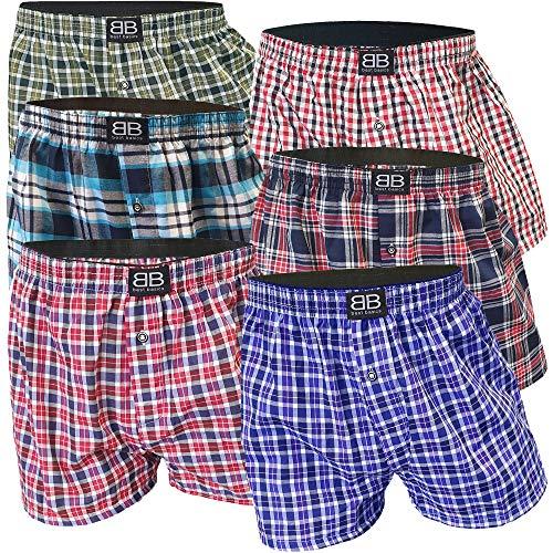 6er Pack Sport Boxershorts für Herren Unterwäsche Sets Unterhosen für Männer aus Baumwolle mit Eingriff Schlüpfer Mann (XL, 6er Pack)