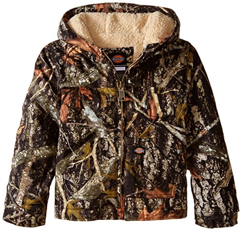 Boys Sherpa Jacket (Dickies Little Boys' Sherpa Lined Duck Jacket, Camo New Conceal, Large (7))