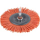 Wolfcraft 1502000 Brosse nylon rouge circulaire 6.35 mm ø 100 mm