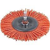 "WOLFCRAFT 1502000 - Cepillo de disco de nylon vastago hexagonal 1/4"" (635 mm) rojo agresivo diam 100 x 10 mm"