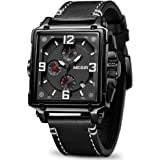 MEGIR Men's Analogue Army Military Chronograph Luminous Quartz Watch with Fashion Leather Strap for Sport & Business Work ML2