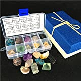 AITELEI 10 Healing Crystals Mineral Specimen set, RAW minerale quarzo cristallo esemplari Rock e minerali Geology Education Collection per Tumbling, Cabbing, lucidatura, Wicca and Reiki guarigione