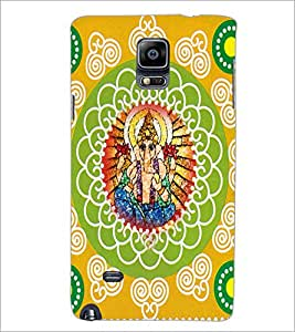 PrintDhaba Lord Ganesha D-5043 Back Case Cover for SAMSUNG GALAXY NOTE 2 (Multi-Coloured)