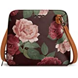DailyObjects Lovely Blooms Trapeze Sling Crossbody Bag for girls and women | Vegan leather, Stylish, Sturdy, Zip closure with