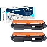 LCL Cartucho de tóner Compatible 30A CF230A 20A CF220A (2 Negro) con Chip Reemplazo para HP Laserjet Pro M203dn 203dw HP Lase