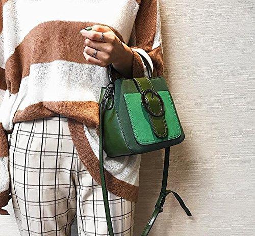 Mdrw-handbags Mini Bag Borsa A Tracolla Portatile Colore Retrò Femminile Borsa All-match Con Tracolla Singola Verde