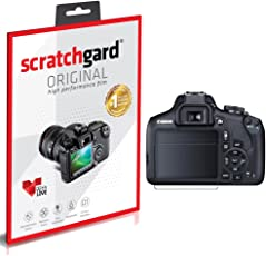 Scratchgard Anti-Bubble and Anti-Fingerprint HD PET Screen Protector for Canon EOS 1500D (Clear)