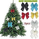 su-luoyu Weihnachten Dekoration Bogen Pailletten Schmetterling Anhänger Weihnachtsbaum Anhänger Tür Und Fenster Home Decor Dekoration Schmetterling Feiertagsdekoration Inneneinrichtung