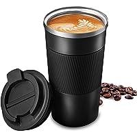 510ml Thermobecher Edelstahl Travel Mug Kaffeebecher Isolierbecher Thermosflasche Wasserflasche Coffee to Go Becher…