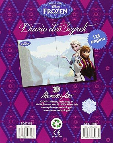 Frozen - Diario 3D con candado, 17 x 22 cm (Mercury)