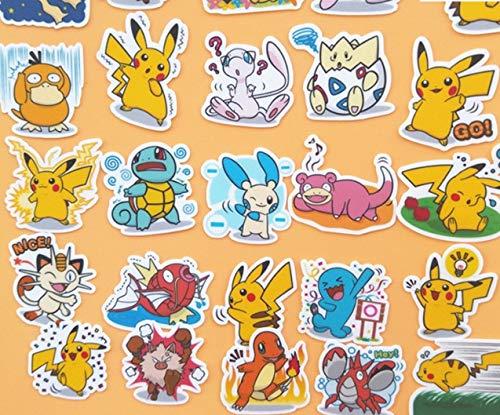 40 unids de dibujos animados bebé animal pegatinas para la decoración casera en libro de teléfono macbook etiqueta engomada del ordenador portátil del refrigerador del patín del doodle del juguete