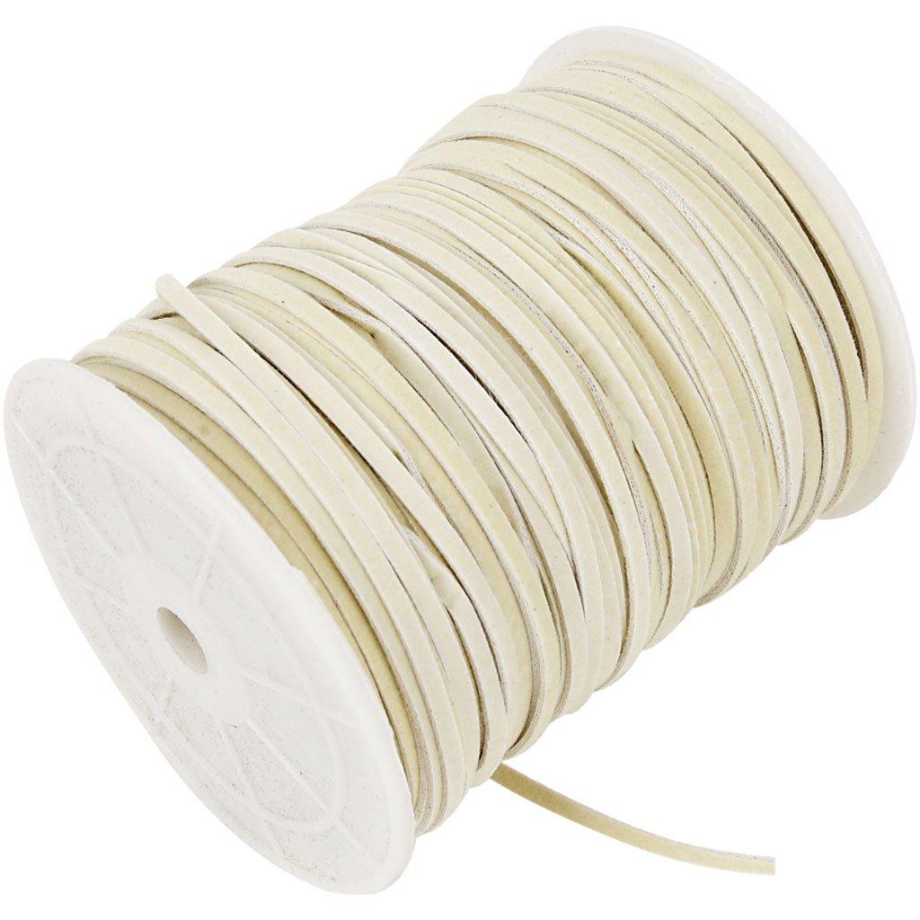 Corda d finto camoscio, 3 mm, beige, 100m