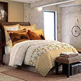 Bombay Dyeing 210 TC Cotton Double Bedsheet with 2 Pillow Covers - Yellow