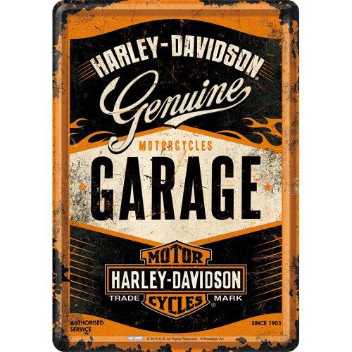 Nostalgic-Art 10281 Harley-Davidson - Garage, Blechpostkarte 10x14 cm