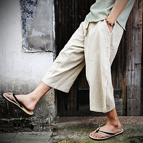 Harem Pants Breathable Summer Linen Pants Women and Men with Yantra Tattoo  as Alternative Clothing 6 Colors M-4XL