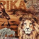 Servietten, Afrika, Collage 20 Stück, 33x33cm