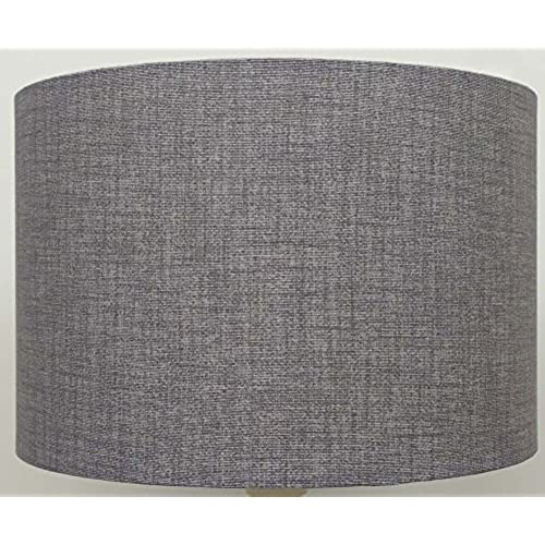 Grey light shades amazon 8 silver grey linen style lampshade table lamp ceiling light aloadofball Image collections