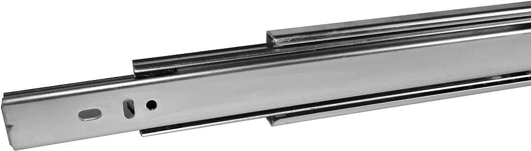 eingeschoben 4 Paar 8 ST/ÜCK SO-TECH/® Vollausz/üge Schubladenschienen 250 mm kugelgelagert Tragkraft 45 Kg