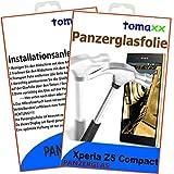 Sony Xperia Z5 Compact Glas Glasfolie 9H Panzerglas Panzerglasfolie Schutzfolie