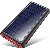 VOOE Solar Powerbank 26800mAh Externer Akku, Solar Ladegerät mit 2 Ausgänge, Solar Power Bank mit Automatische Erkennen…