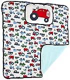 Bebe Bonita Traktor Auto Truck Gepolsterte Spielmatte–Decke mit abnehmbarem Kissen–100% Baumwolle