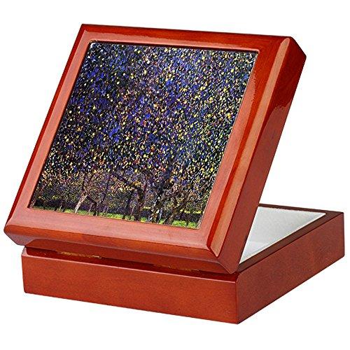CafePress-Gustav Klimt Pear Tree-Keepsake Box, fertig Hartholz Jewelry Box, Samt Gefüttert Memento Box mahagoni -