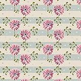 Tilda Spring Diaries Stoff, 100% Baumwolle, Gerbera Pink