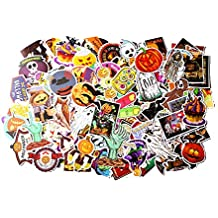 Stillshine 100 Pieza Halloween Pegatina para Skateboard Skull Head Calabaza Vintage Vinyl Sticker Graffiti Laptop Equipaje