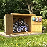 6x4 Tongue & Groove Wooden Pent Bike Log Tool Storage Double Door Roof Felt Store Shed 6ft x 4ft