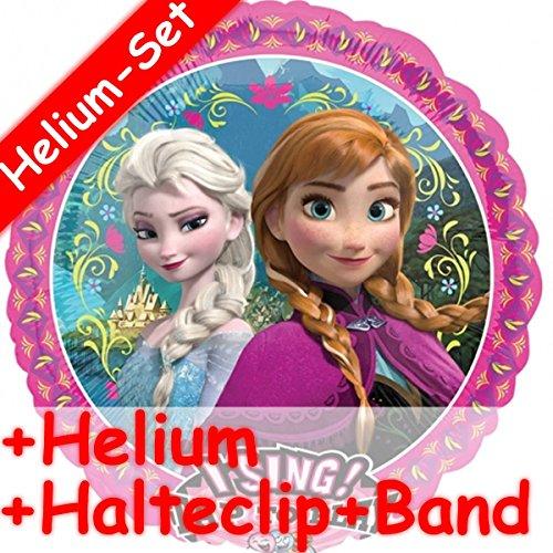 on Set * FROZEN - DIE EISKÖNIGIN + HELIUM FÜLLUNG + HALTE CLIP + BAND * für Geburtstag // Disney Helium Kindergeburtstag Deko Ballongas ()