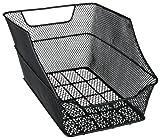 Fischer 62018 Gepäckträgerkorb für Schultasche, engmaschig, schwarz, werkzeuglose Montage