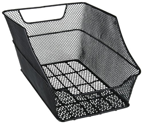 Preisvergleich Produktbild FISCHER Gepäckträgerkorb für Schultasche,  engmaschig,  schwarz,  werkzeuglose Montage