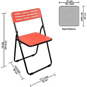 Parasnath Heavy Multipurpose Folding Plastic Chair - Colour Randomly Selected