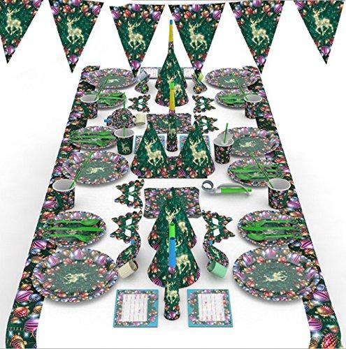 outgeek 90PCS Conjunto de suministros de Navidad tipos variados de Moda decorativos decoraciones de Halloween del Partido del Favor (Decoracion De Halloween)