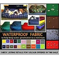 Zippy EXTRA LARGE BLACK - Bean Bag Dog Bed - Waterproof Fabric - Size 50'' x 30'' x 9'' - Pet Beanbag